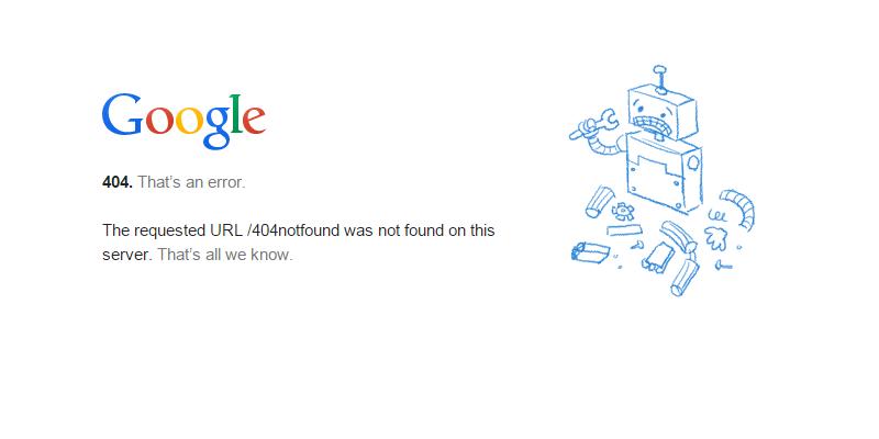 Contoh Tampilan Halaman Error 404
